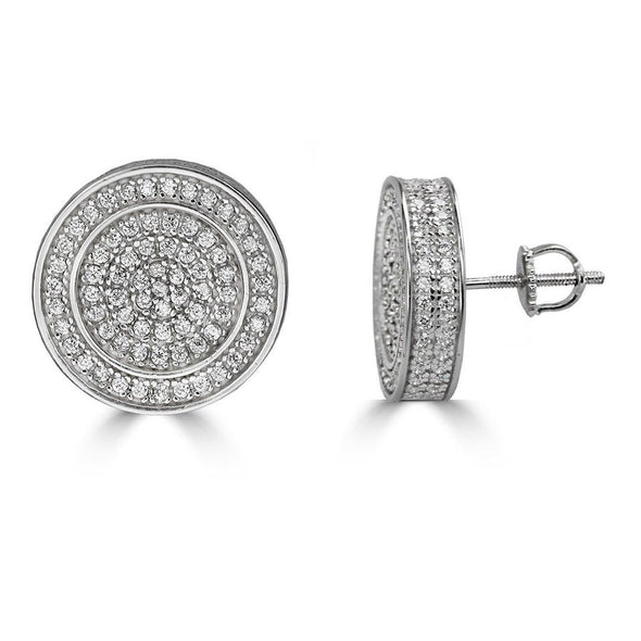 Double Round Diamond Earring
