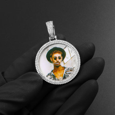 Iced out Picture Pendant
