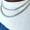tennis necklace for men available in gold and white gold