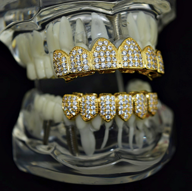 iced out gold grill