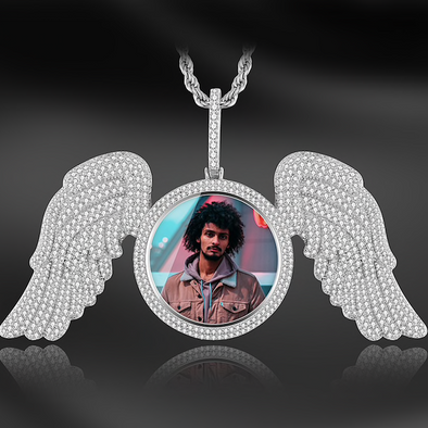 3d Wing Picture Pendant