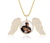 Gold wing Picture Pendant