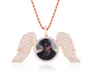Rose Gold wing Picture Pendant