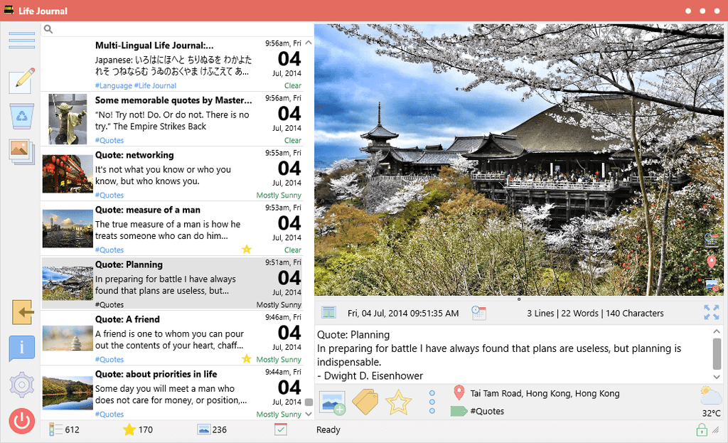 Life Journal v1.2.1: Integration of help & Support web site, bug fixes