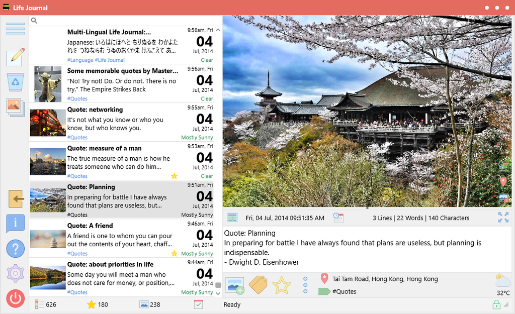 Life Journal v1.3.0.0: Writing prompts, improved default location, and more...