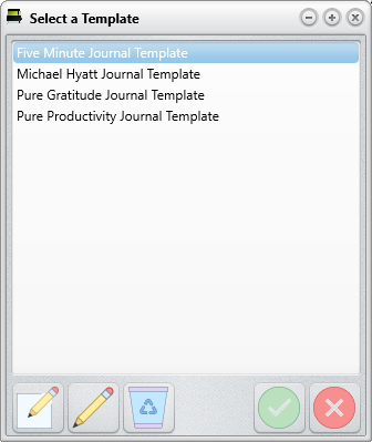 Life Journal - Template manager
