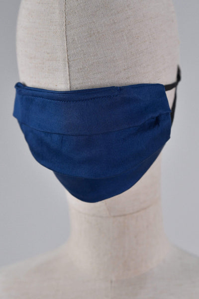 All Would Envy Accessories SILK PLEATED MASK IN BLUE