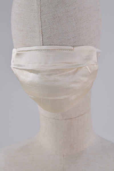 All Would Envy Accessories SILK PLEATED MASK IN PEARL