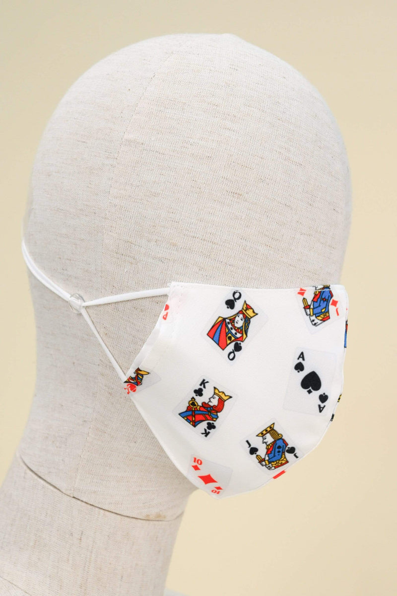 AWE Accessories FS POKER FACE MASK IN WHITE