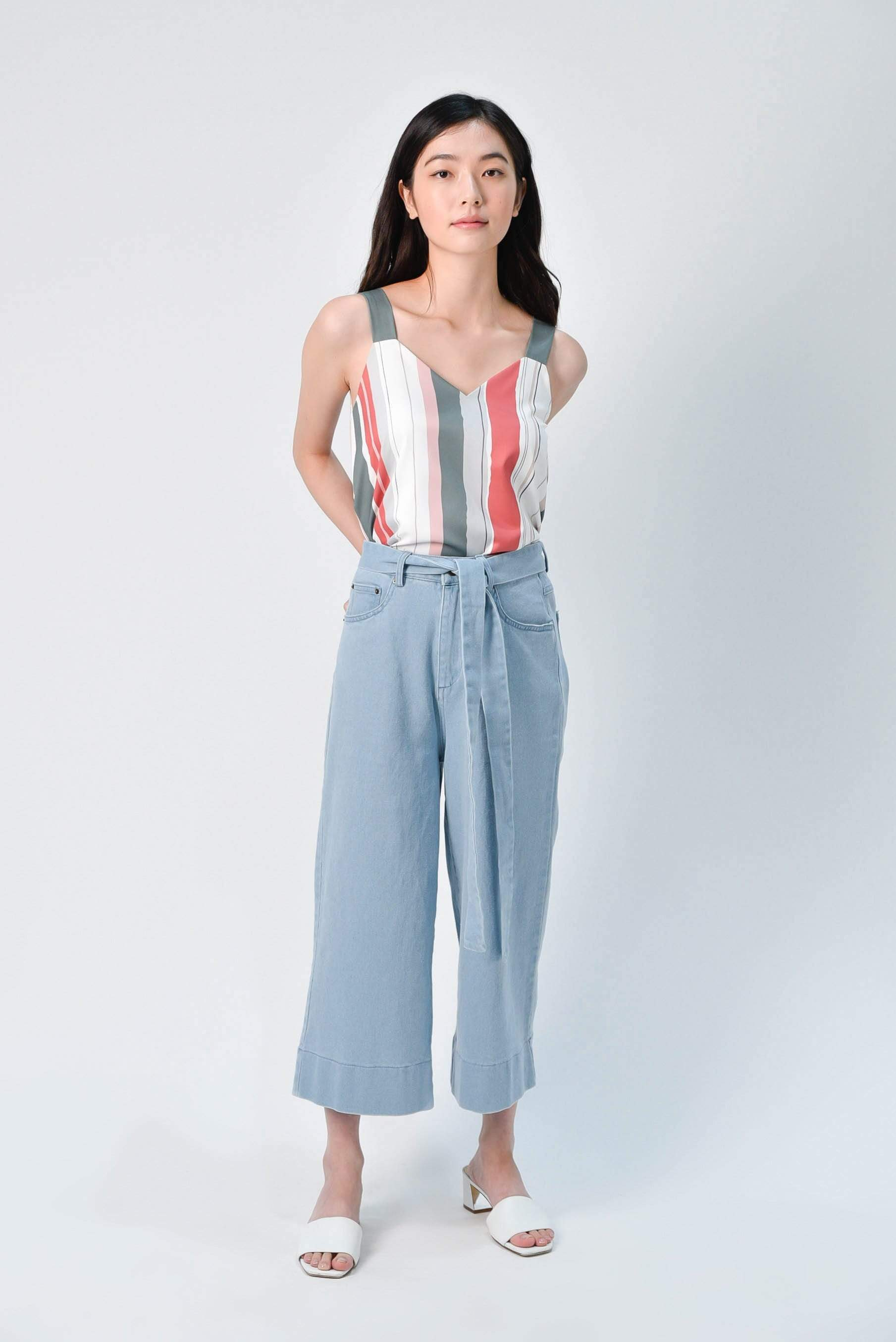 ARIEL DENIM CULOTTES IN LIGHT WASH