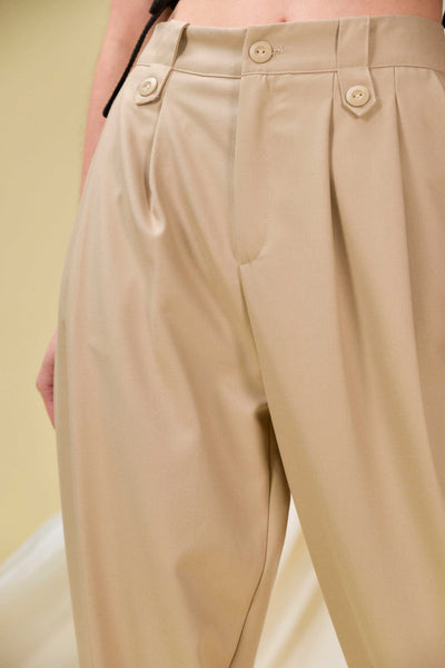 AWE Bottoms BERKLEY CUFFED PANTS IN KHAKI