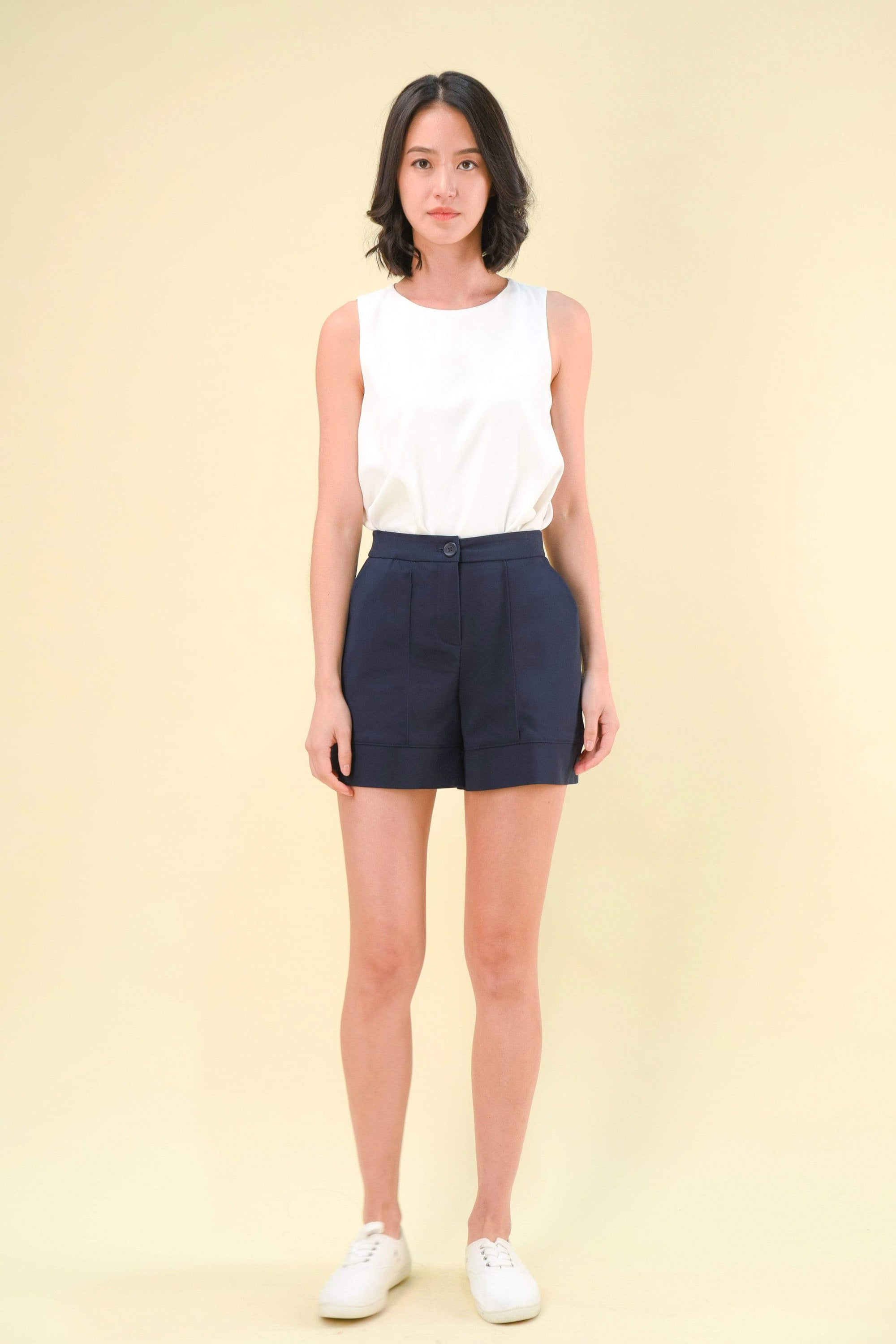AWE Bottoms CHERVIL SHORTS IN NAVY
