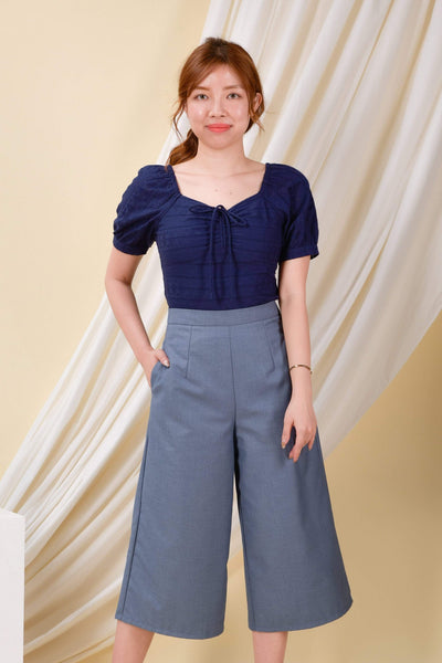 AWE Bottoms DARCY CULOTTES IN HEATHER BLUE
