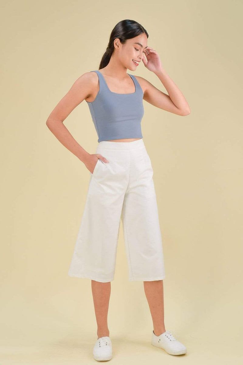 AWE Bottoms DARCY CULOTTES IN WHITE
