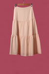 AWE Bottoms MARRAKESH TIERED SKIRT IN BEIGE