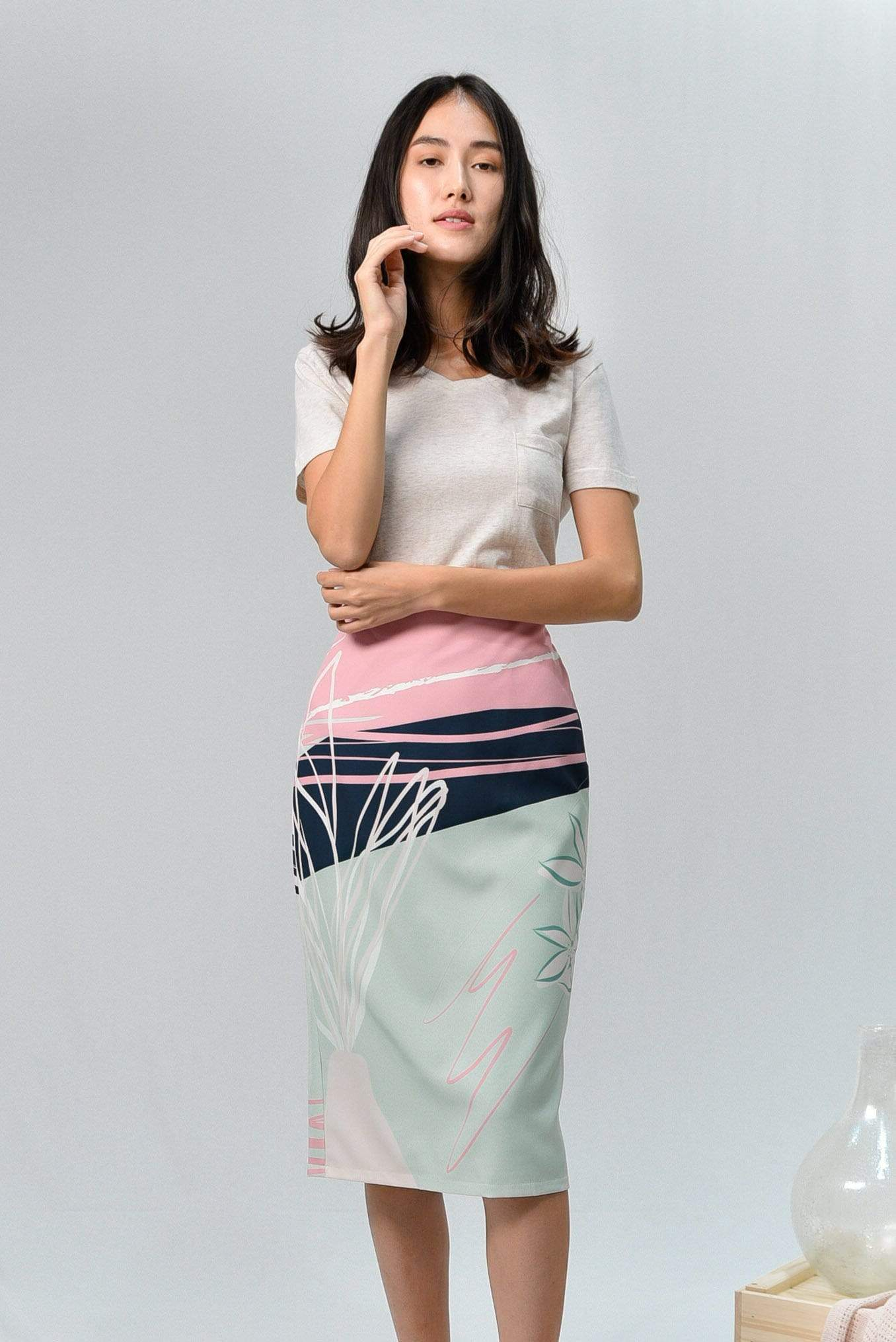 AWE Bottoms PAINTER PENCIL SKIRT IN AMAZON