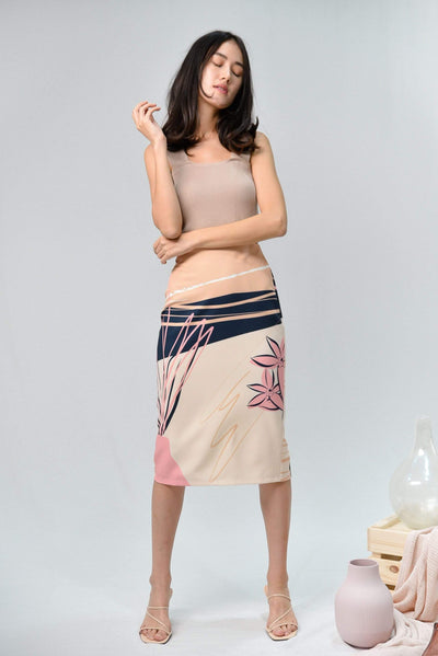 AWE Bottoms PAINTER PENCIL SKIRT IN SAHARA