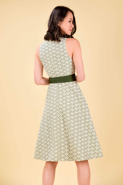 AWE Dresses AOI FIT-AND-FLARE DRESS IN OLIVE