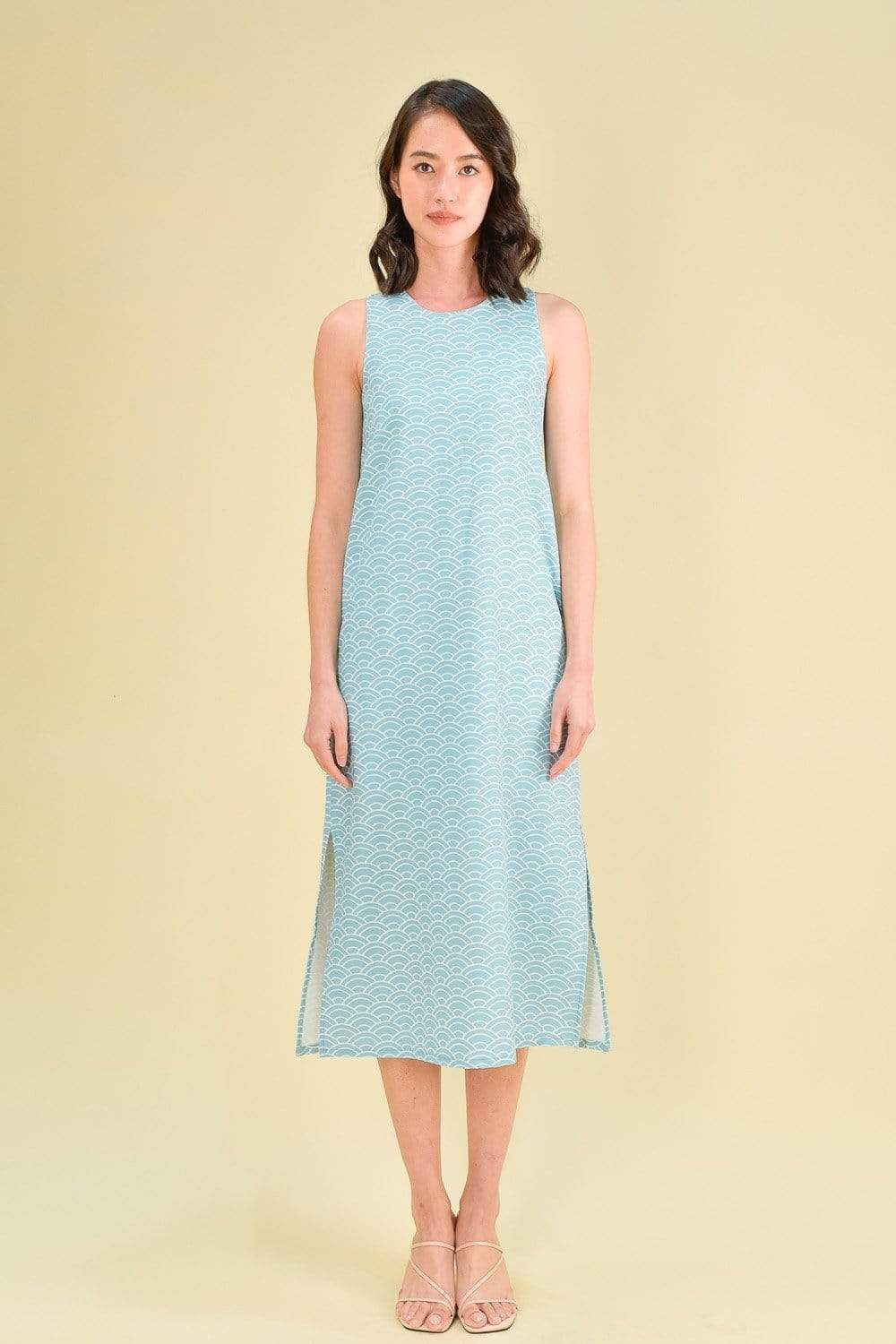 AOI SIDE-SLIT MIDI IN SEAFOAM