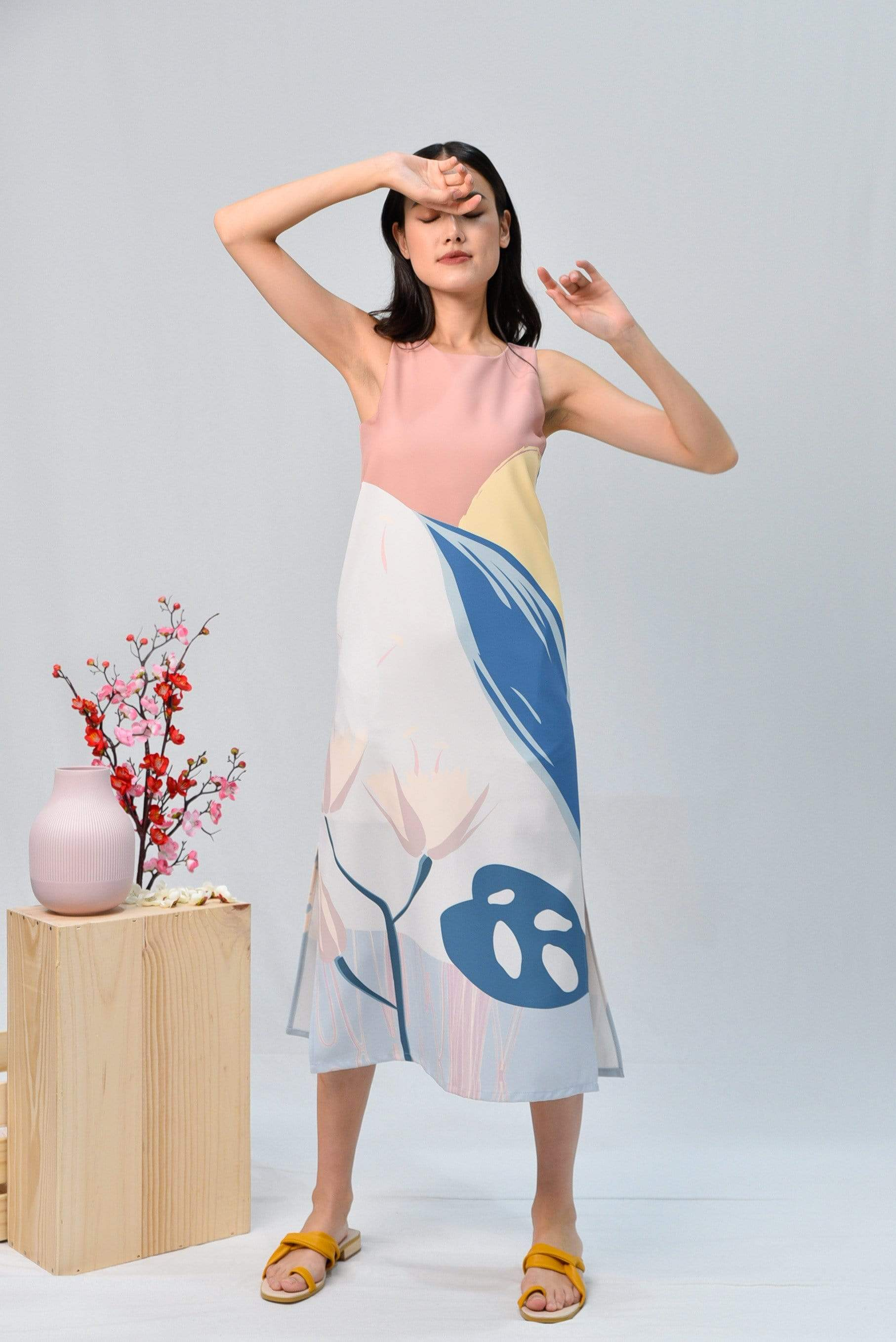 AWE Dresses ARCADIA SIDE-SLIT MIDI DRESS IN HARMONY