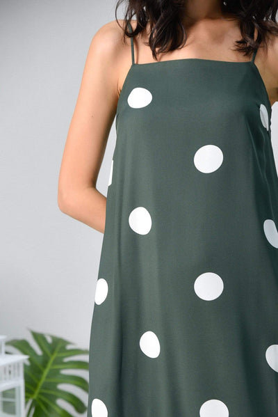 AWE Dresses ARYA FOREST POLKA DOT TENT DRESS