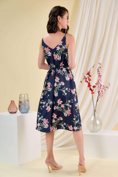 AWE Dresses AURORA FLORAL TWO-WAY MIDI IN NAVY