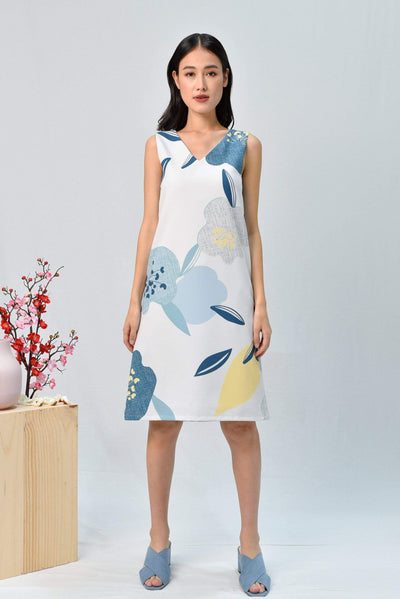 AWE Dresses BLOOM TWO-WAY SHIFT DRESS IN OCEAN