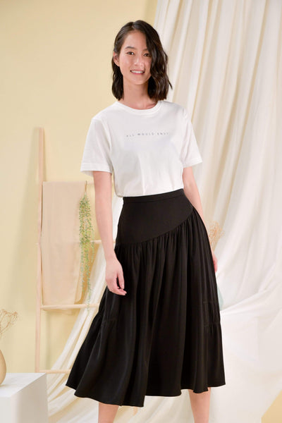 AWE Dresses BRIGITTE MIDI SKIRT IN BLACK