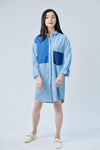 AWE Dresses CASA LIGHT DENIM DROP-SHOULDER SHIRTDRESS