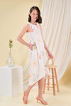 AWE Dresses DAISY BLOOMS DIP-HEM MIDI IN OFF-WHITE