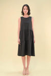 AWE Dresses DARA PARACHUTE MIDI DRESS IN BLACK