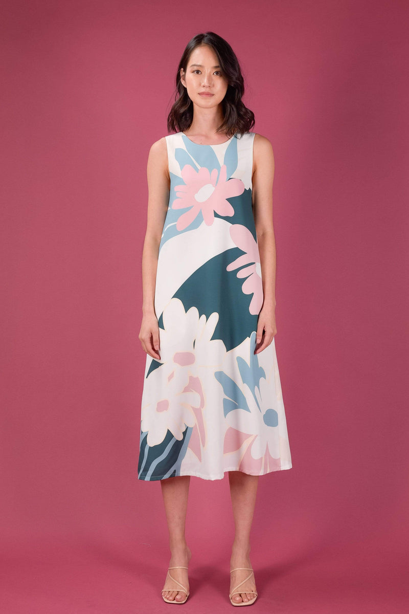 AWE Dresses DREAMERS A-LINE MIDI DRESS IN MOONLIGHT
