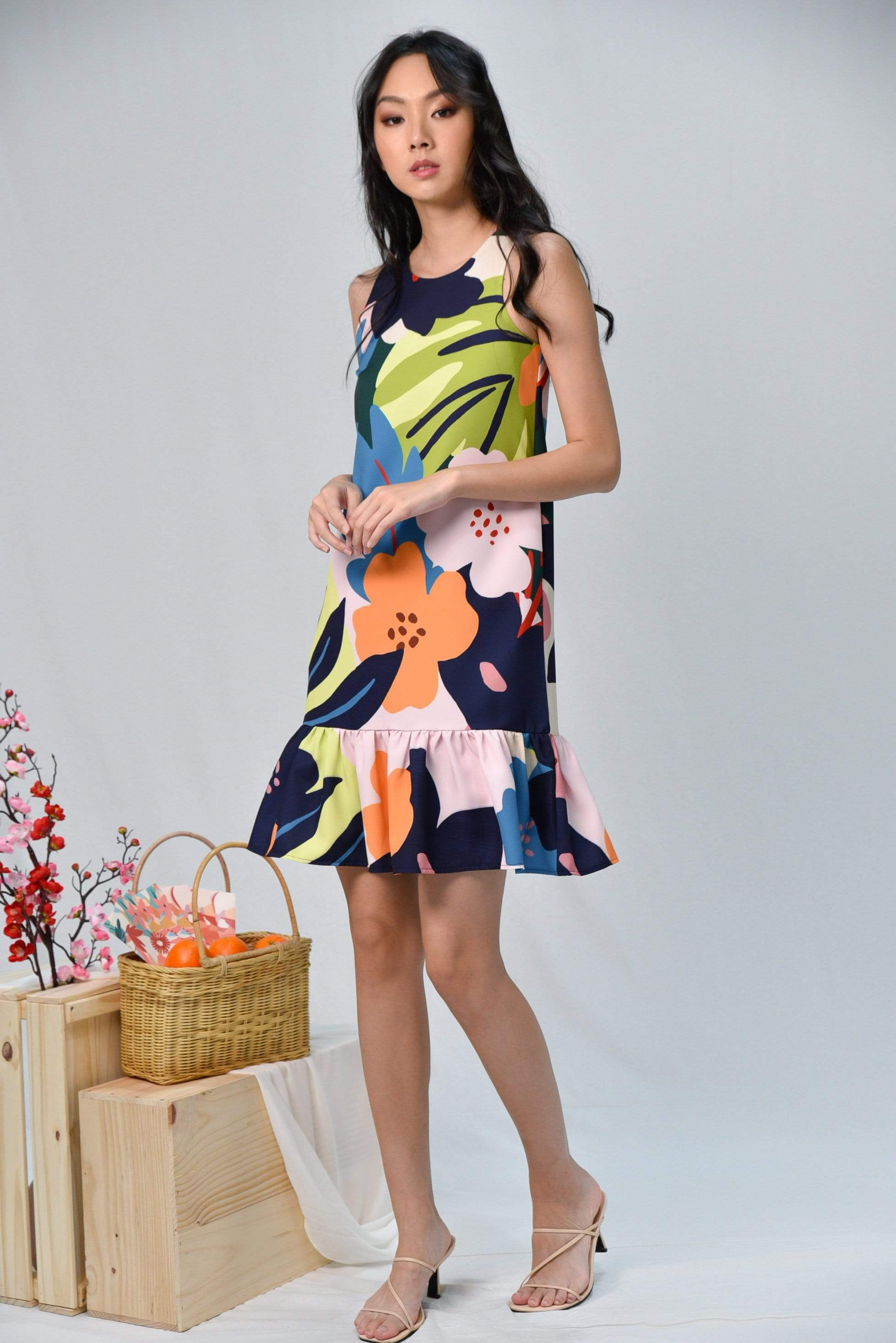 *BACKORDER* ESPERANZA DROP-WAIST DRESS IN WHIMSICAL