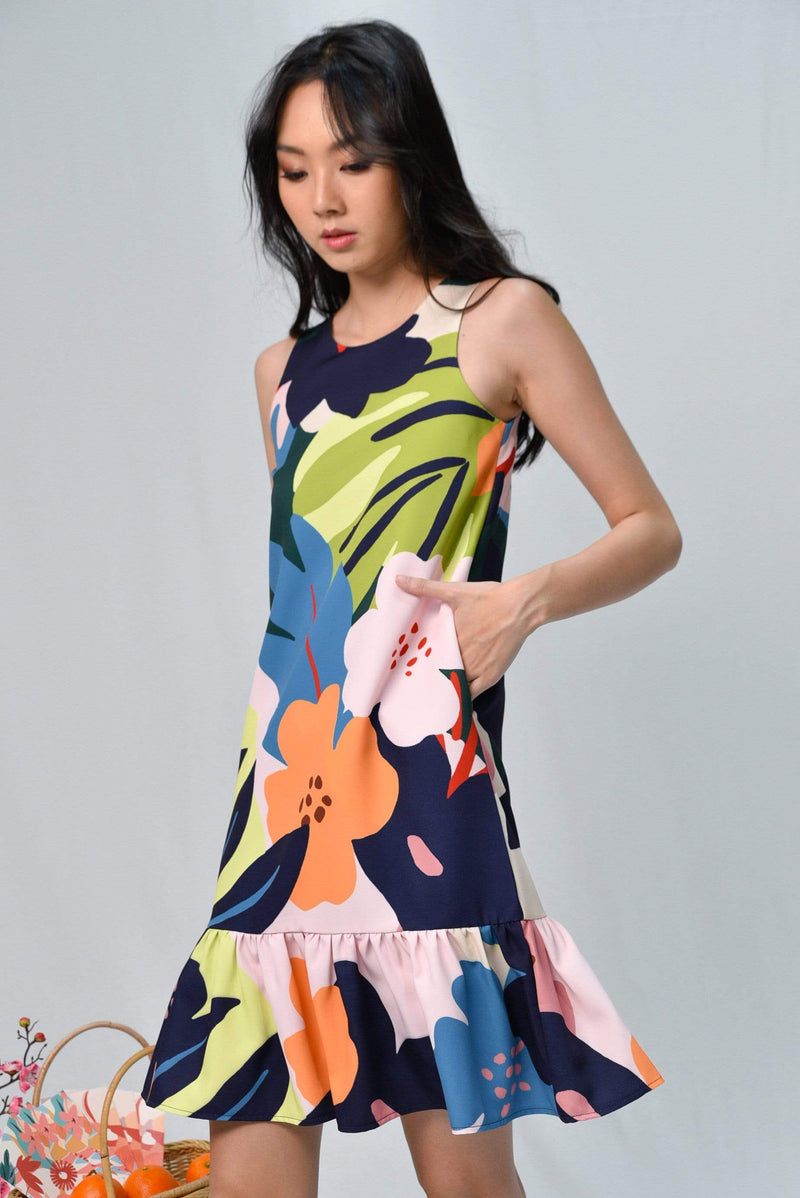ESPERANZA DROP-WAIST DRESS IN WHIMSICAL