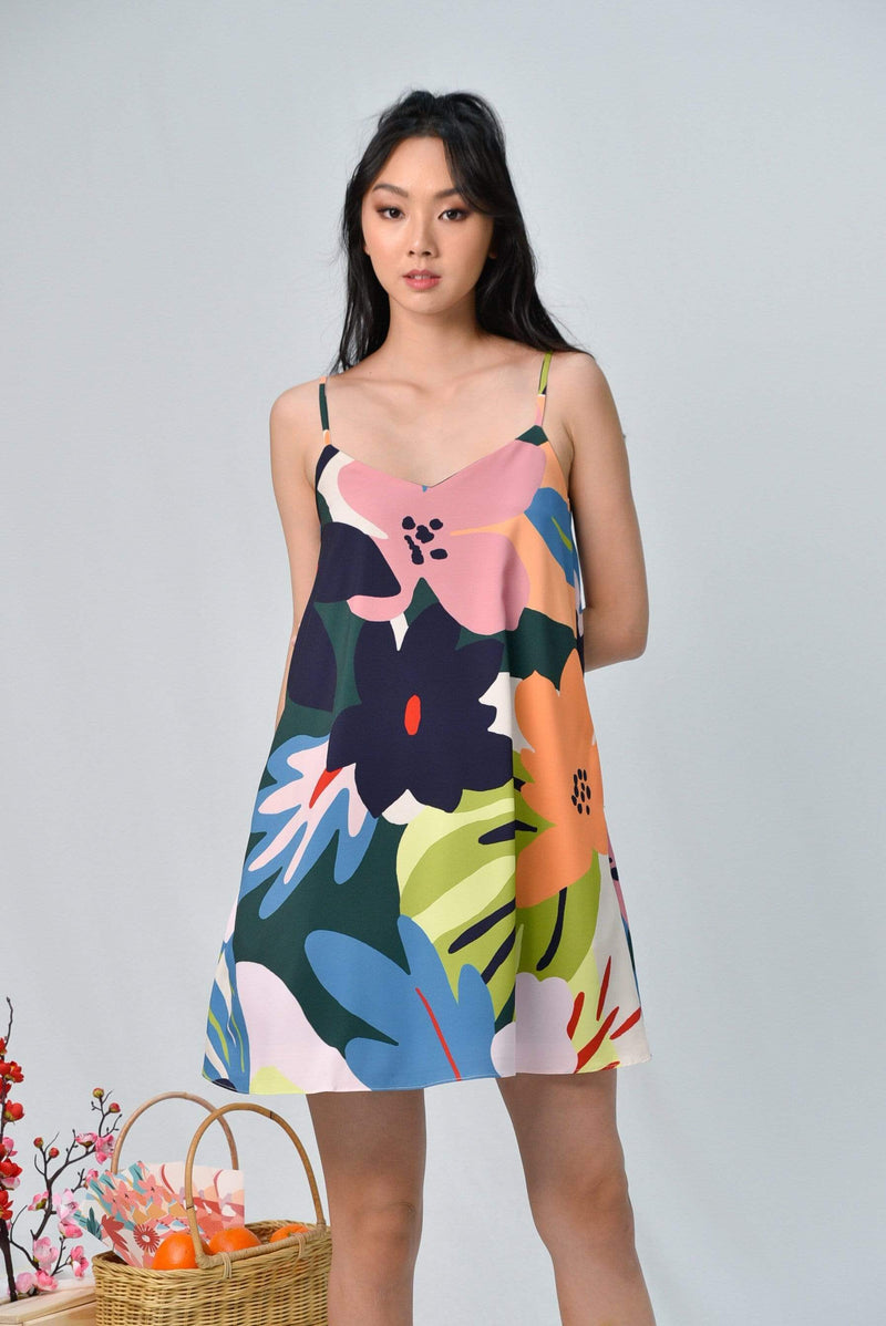 ESPERANZA SLIP SWING DRESS IN WHIMSICAL