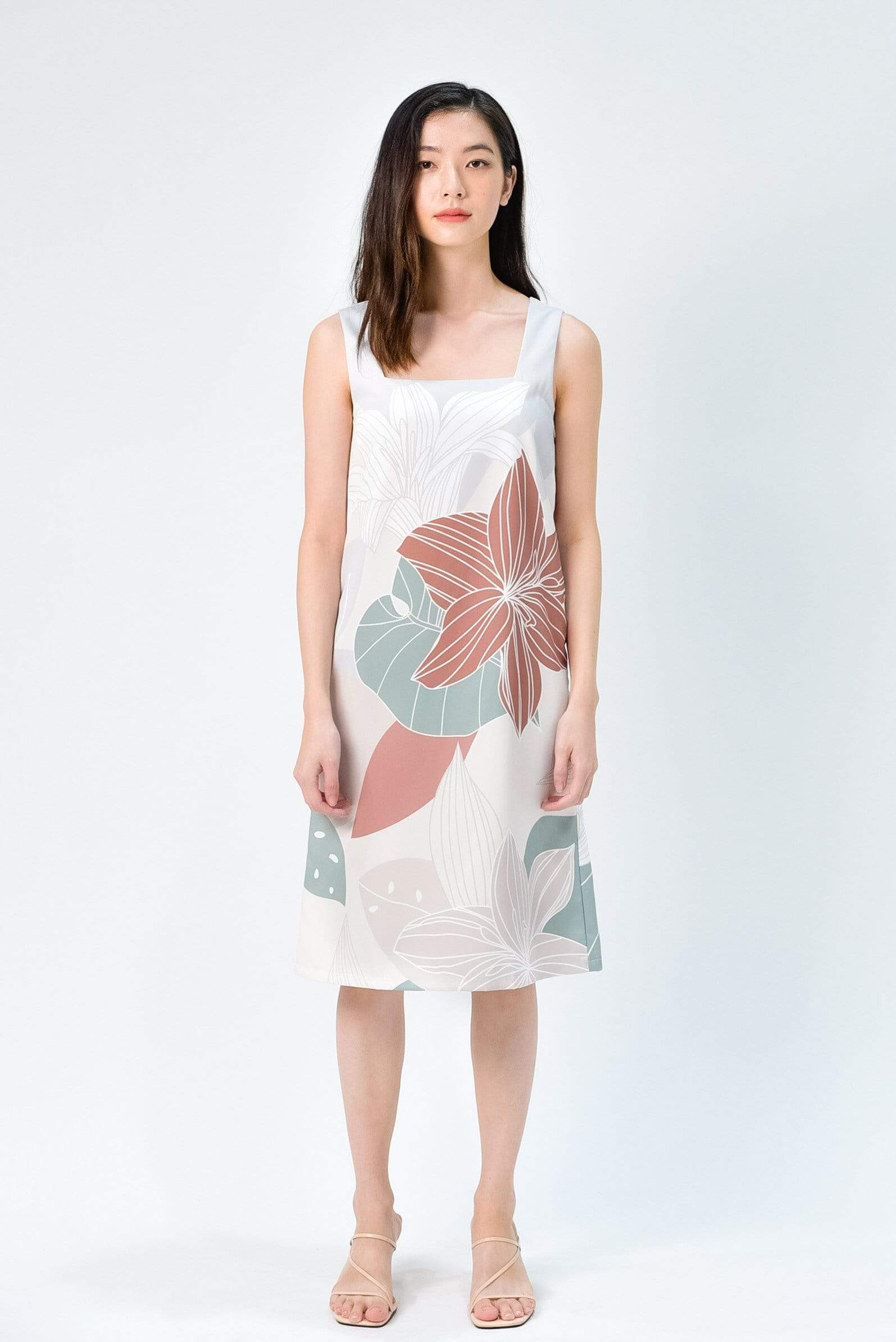 FAIRYTALE TWO-WAY SHIFT DRESS IN EARTH