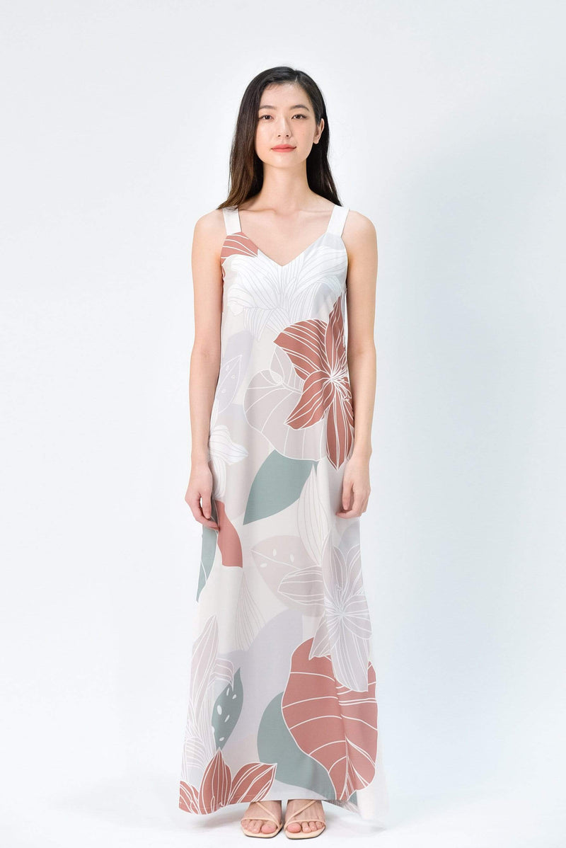 FAIRYTALE TWO-WAY SIDE-SLIT MAXI IN EARTH