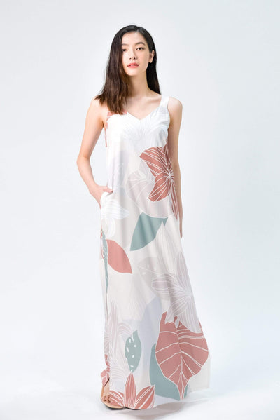 AWE Dresses FAIRYTALE TWO-WAY SIDE-SLIT MAXI IN EARTH
