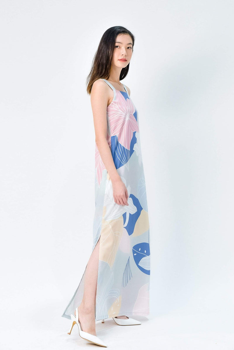 FAIRYTALE TWO-WAY SIDE-SLIT MAXI IN PASTEL