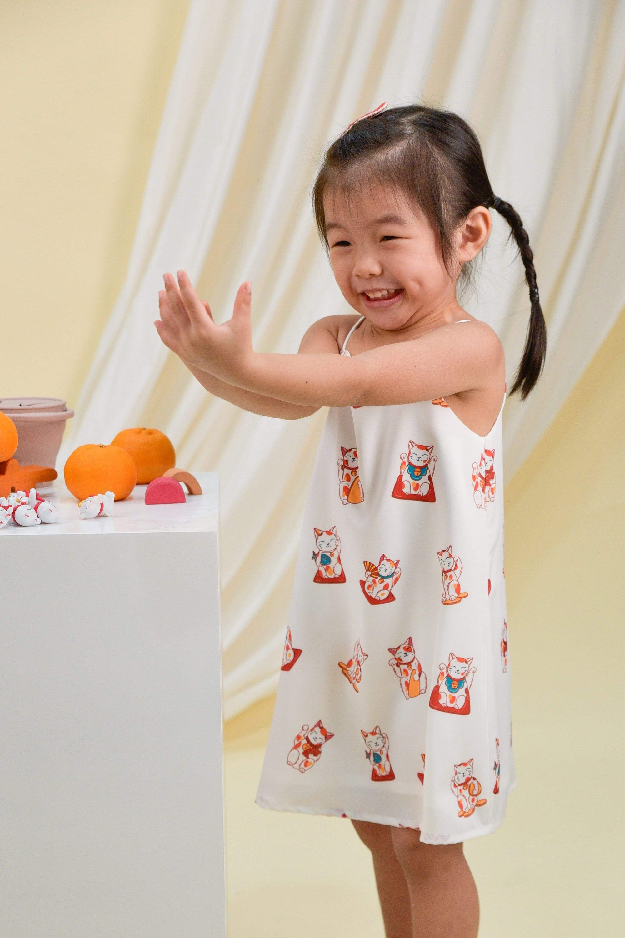 FORTUNE CAT KIDS' DRESS