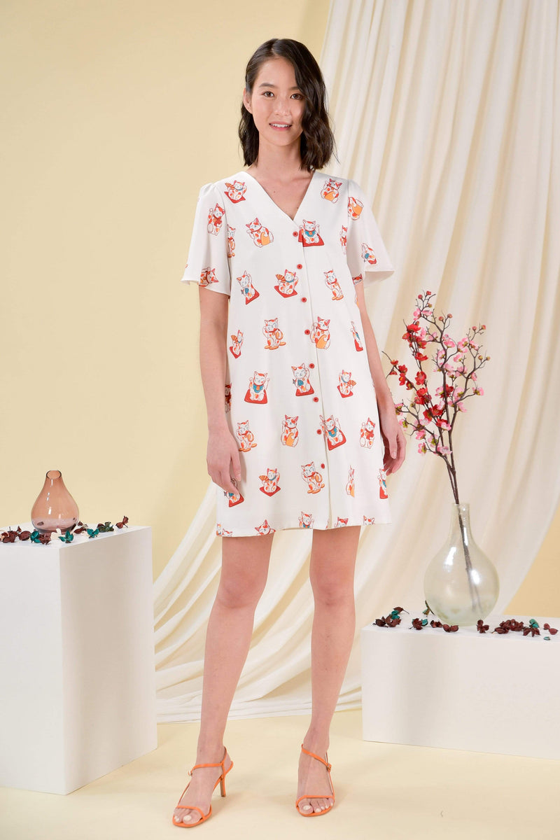 AWE Dresses FORTUNE CAT SLEEVED DRESS