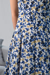 AWE Dresses FRANCES BLUE FLORAL SPAG DRESS
