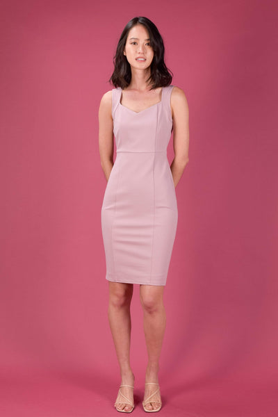 AWE Dresses INJAE SWEETHEART PENCIL DRESS IN PINK