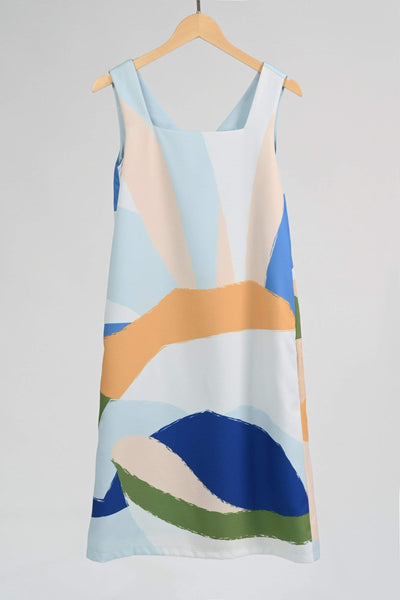 AWE Dresses LANDSCAPE TWO-WAY SHIFT DRESS IN SUNRISE