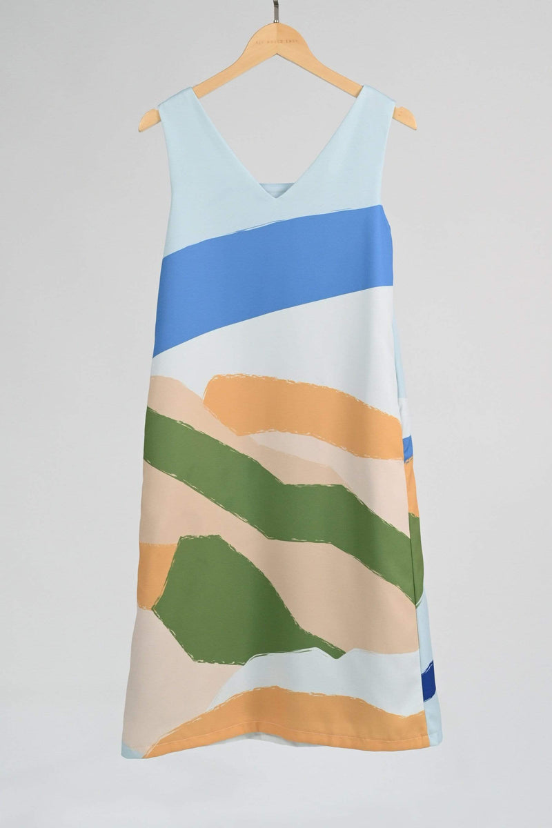 LANDSCAPE TWO-WAY SHIFT DRESS IN SUNRISE
