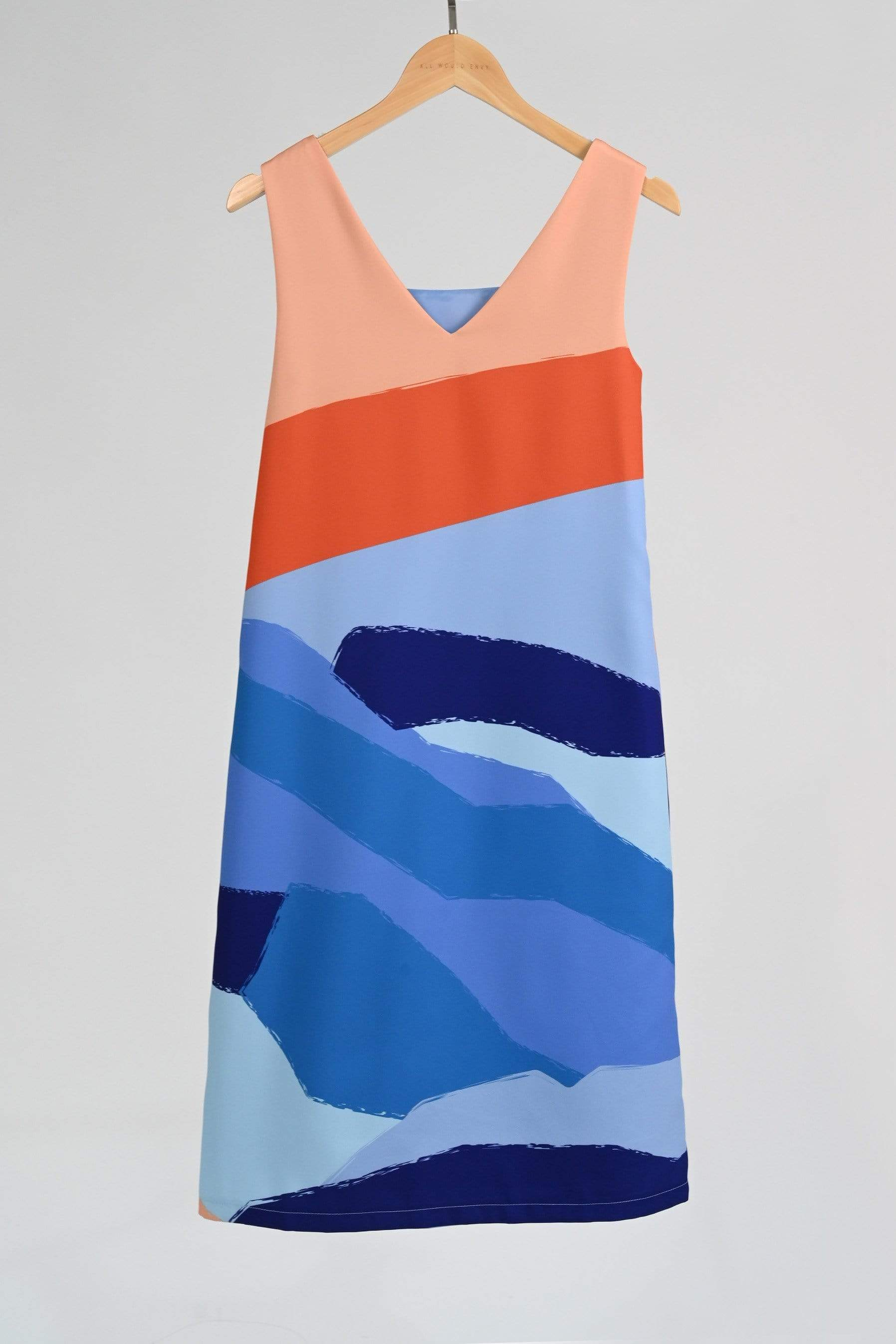 LANDSCAPE TWO-WAY SHIFT DRESS IN SUNSET