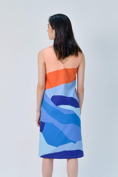 AWE Dresses LANDSCAPE TWO-WAY SHIFT DRESS IN SUNSET