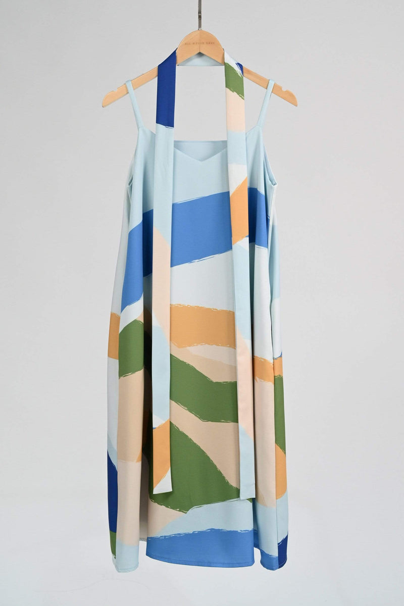 LANDSCAPE TWO-WAY SWING DRESS IN SUNRISE