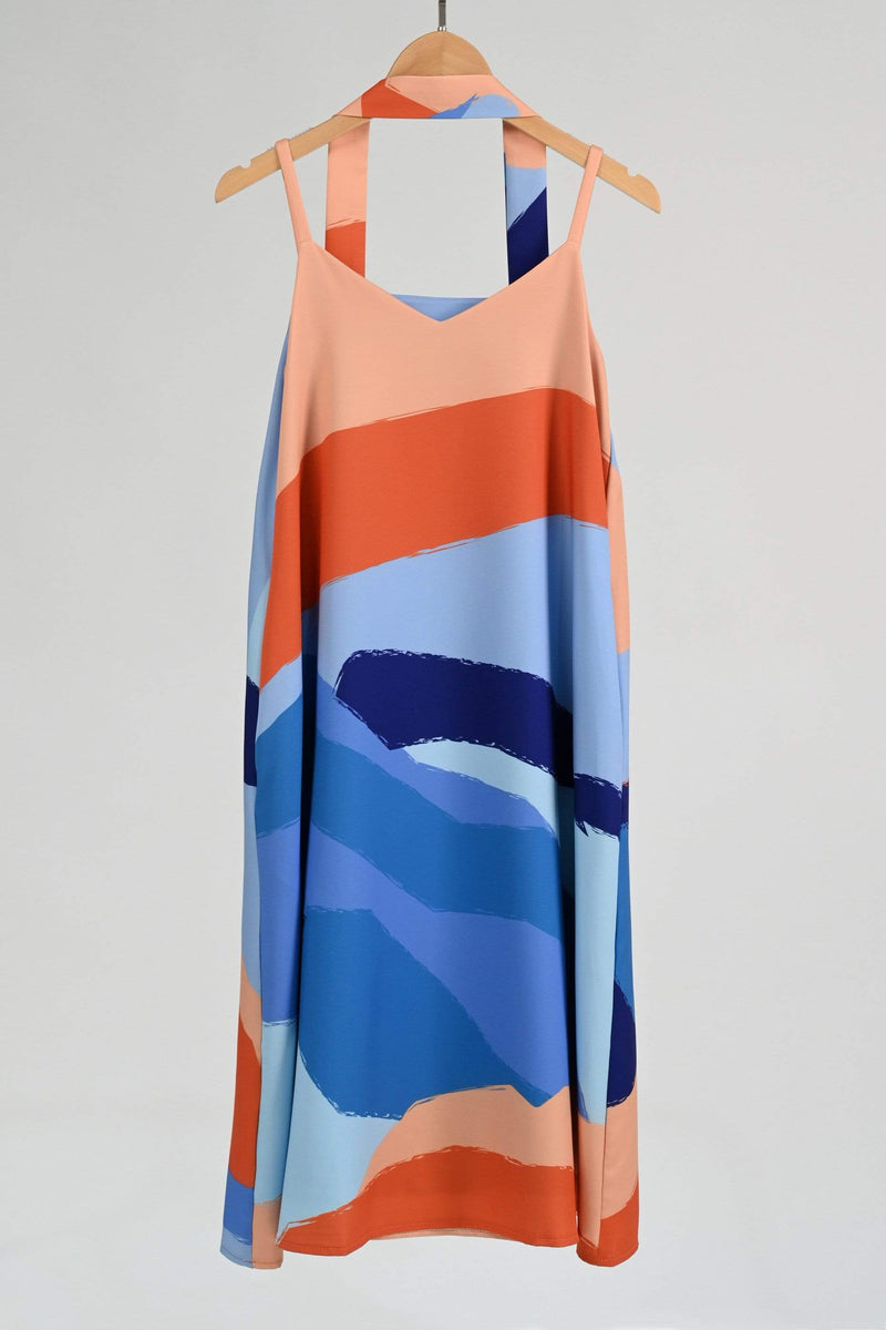LANDSCAPE TWO-WAY SWING DRESS IN SUNSET