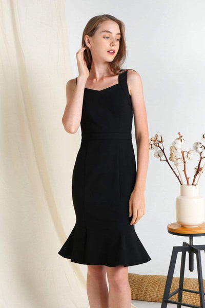 AWE Dresses LINEA BLACK MERMAID PONTE DRESS